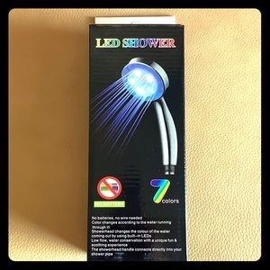 7 color changing shower head.